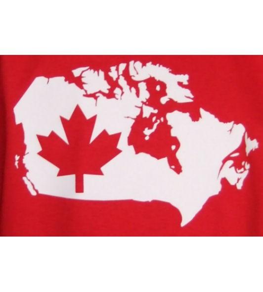 Kanada Hoodie Map&Flag
