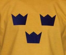 Schweden Hoodie Tre Kronor gelb