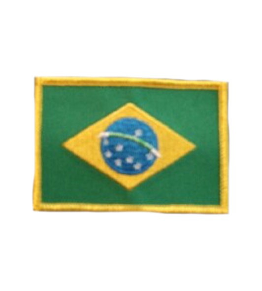 Brasilien Aufnäher Fahne