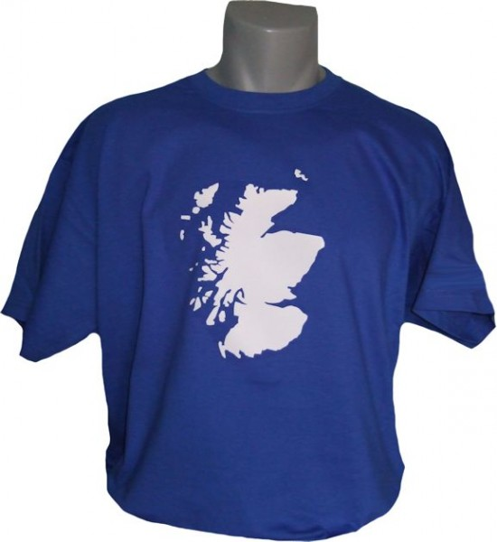 Schottland T-Shirt Map