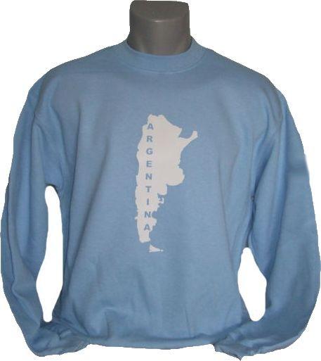 Argentinien Sweatshirt Map&Name