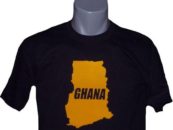 Ghana T-Shirt Map&Name