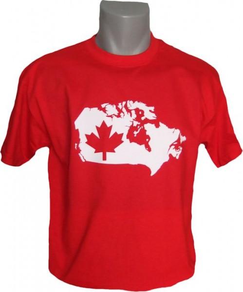 Kanada T-Shirt Map&Flag