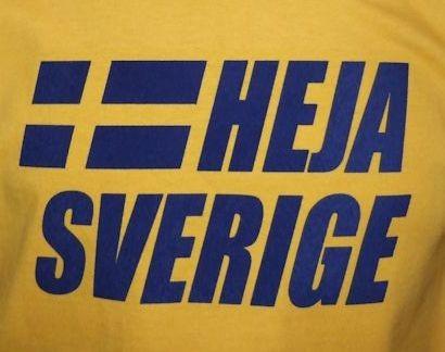 Schweden Sweatshirt Heja Sverige gelb
