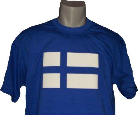 Finnland T-Shirt blau