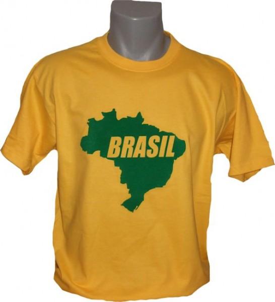Brasilien T-Shirt Map&Name