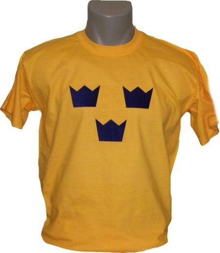Schweden T-Shirt Tre Kronor gelb