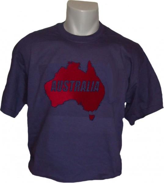 Australien T-Shirt Map&Name