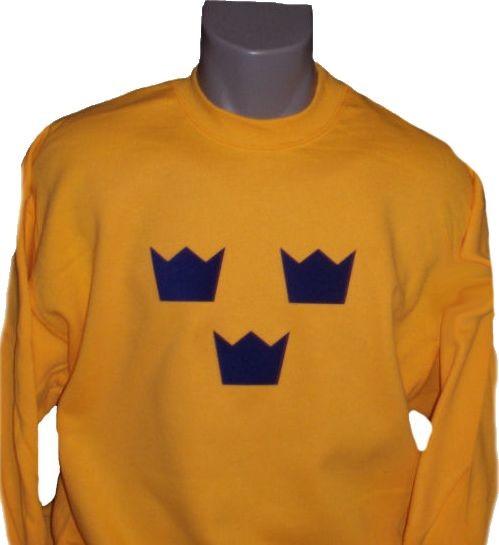 Schweden Sweatshirt Tre Kronor gelb
