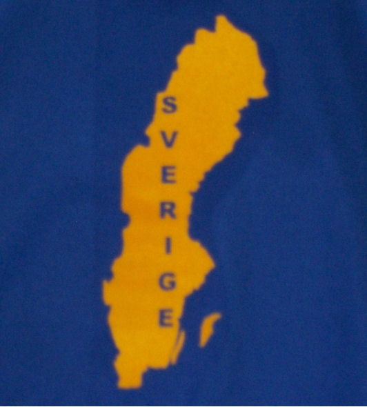 Schweden Sweatshirt Map&Name