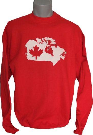 Kanada Sweatshirt Map&Flag