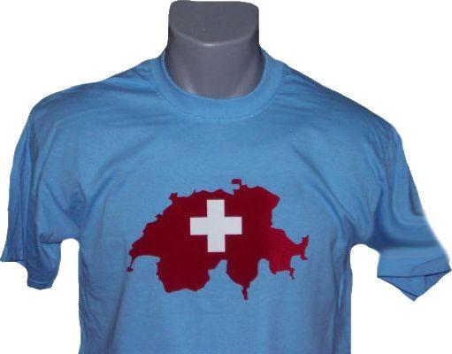 Schweiz T-Shirt Map&Flag