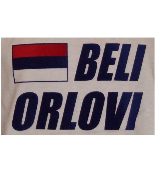 Serbien Hoodie Beli Orlovi