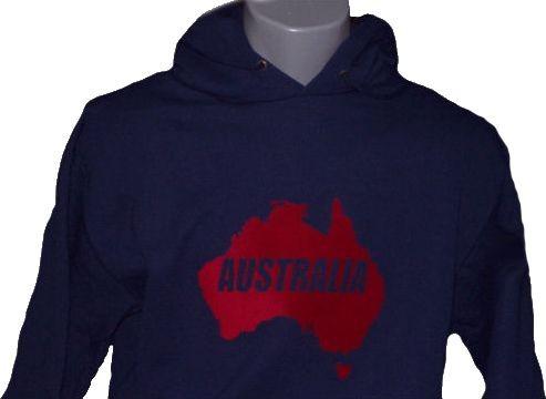 Australien Hoodie Map&Name