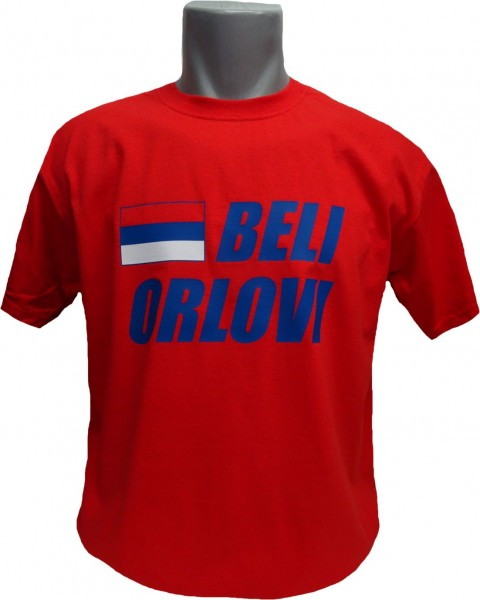 Serbien T-Shirt Beli Orlovi rot