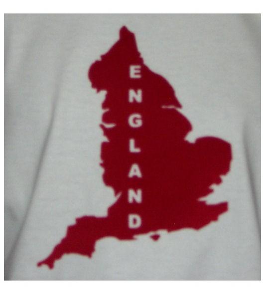 England Hoodie Map&Name