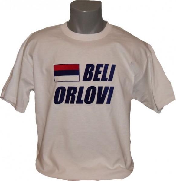 Serbien T-Shirt Beli Orlovi